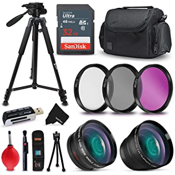 Amazon.com: Profesional 52 mm. Kit de accesorios para Nikon ...