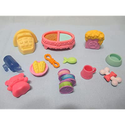 FidgetKute Littlest Pet Shop Lot 20 Random Grocery Shopping Food Accessories Kitchen Playset for Kids BUY3 GET 1FREE: Toys & Games