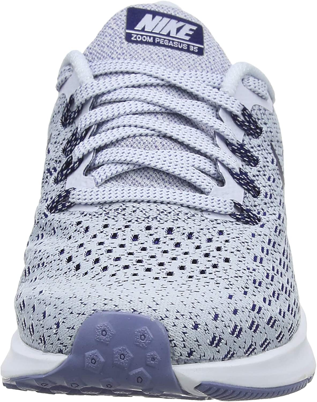 Nike Air Zoom Pegasus 35, Scarpe da Ginnastica Basse Donna, Multicolore (Football GreyBlue VoidWhiteAluminum 005), 40 EU