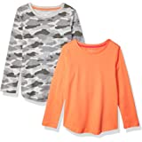 Amazon Essentials Girls' 2-Pack Long-Sleeve Tees Niñas, Pack de 2