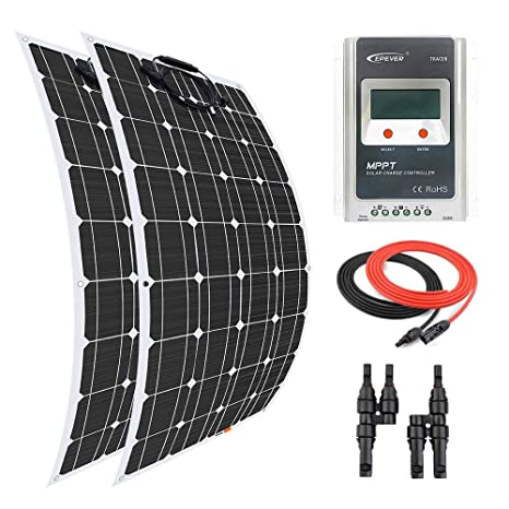Giosolar Panel Solar 200 W Flexible Panel Solar Kit Cargador ...