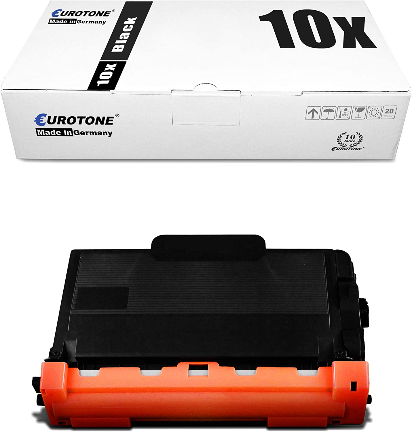 10x Eurotone Toner for Brother MFC-L 5700 5750 6800 6900 DWT DW DN Replaces TN3480