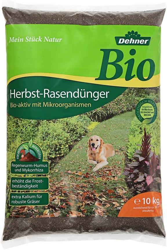 400 qm f/ür ca 20 kg Dehner Bio Herbstrasend/ünger