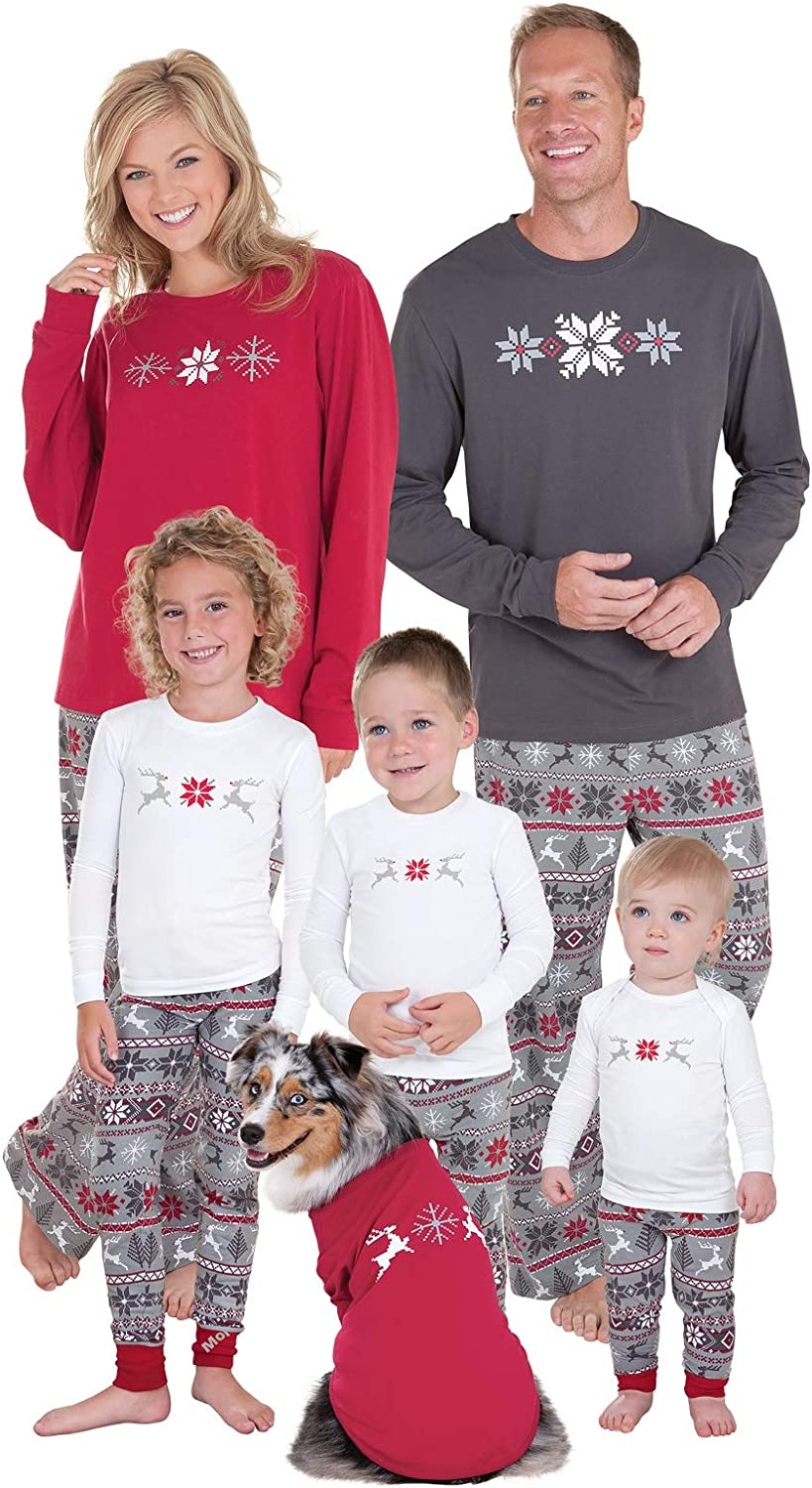 Soft Cotton Family Pajamas PajamaGram Family Christmas Pajamas Set Gray