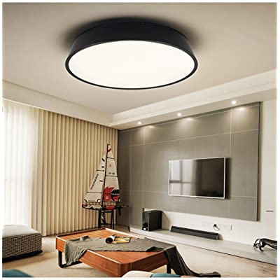 ANGEELEE Plafonnier LED lumière salon circulaire chambre moderne ...