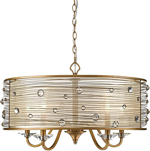 Golden Lighting 1993-5 PG Five Light Chandelier
