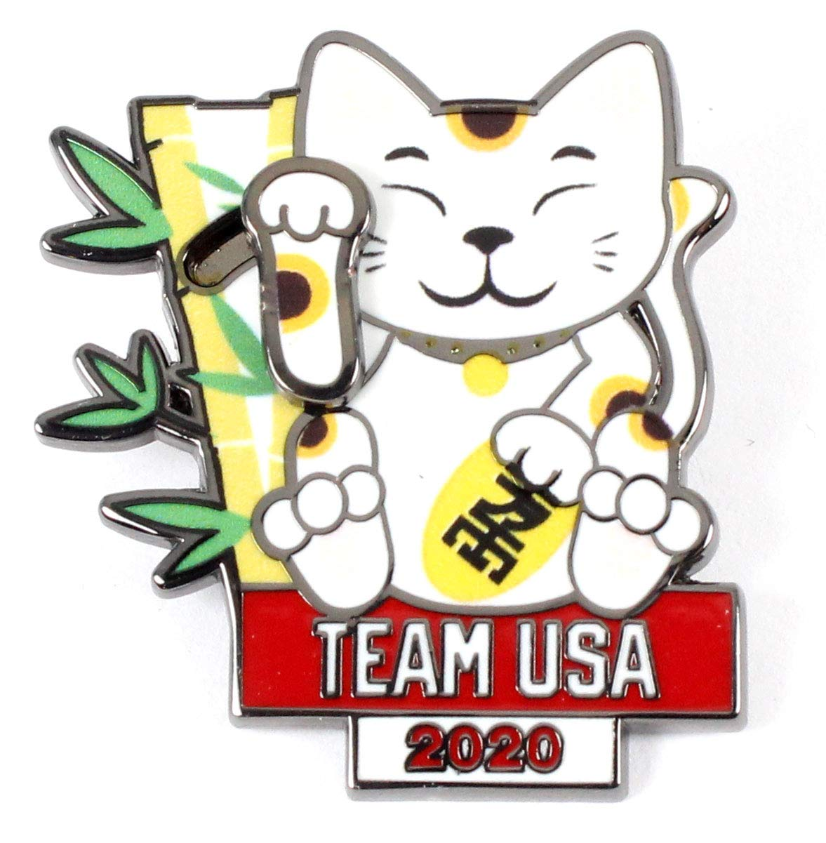 Moving Paw 2020 Tokyo Olympics Team USA Lucky Cat Mascot Pin