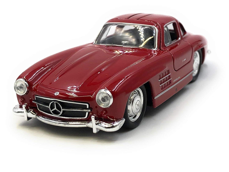 34-39 Onlineworld2013 Mod/èle de Voiture 300 SL Oldtimer Red Car Scale 1 licenci/é