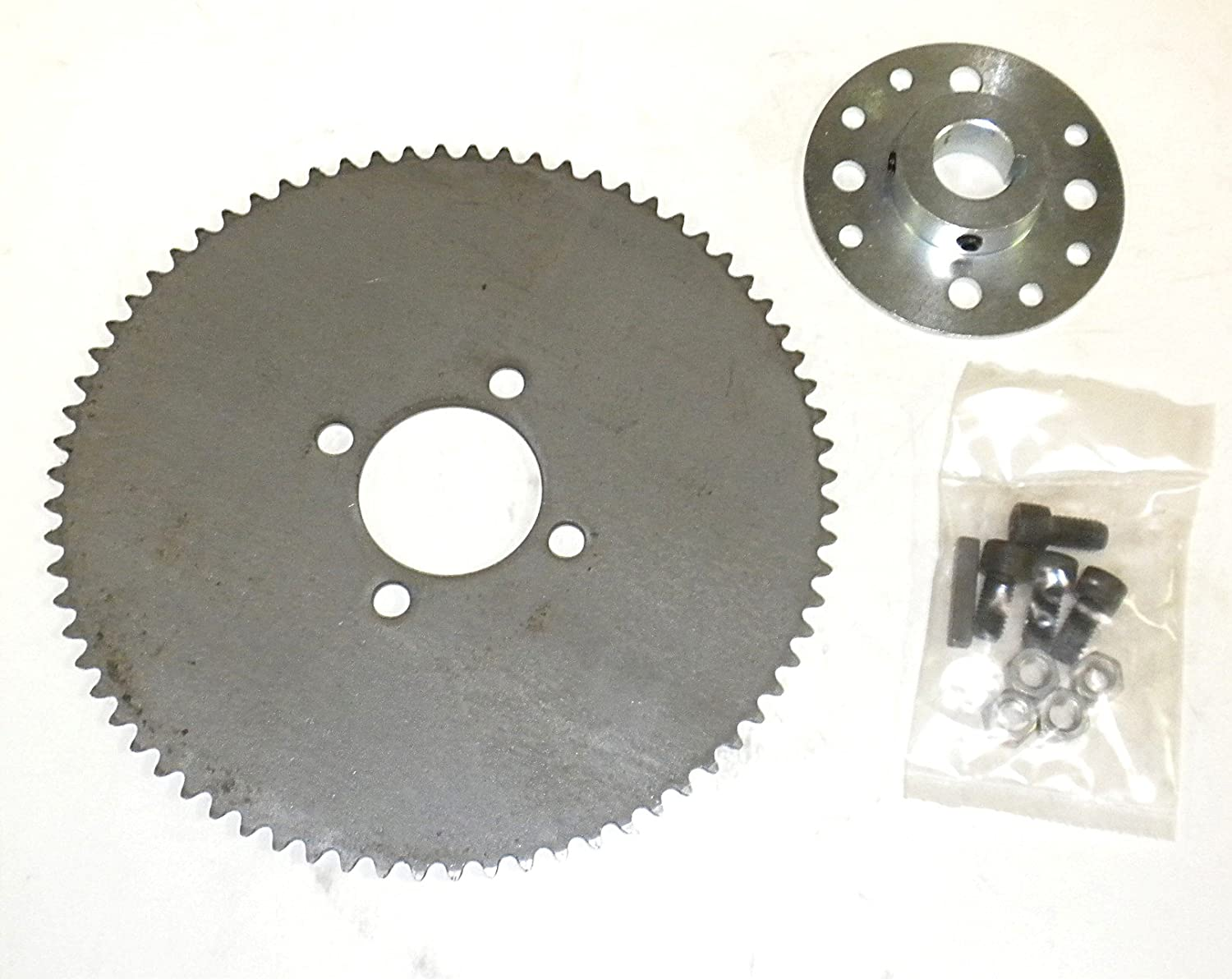 Go Kart Sprocket & Hub For 1' Axle 72T for #35 Chain Rotary