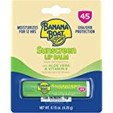 Banana Boat Aloe Vera Lip Protection Sunscreen, 0.15 Ounce