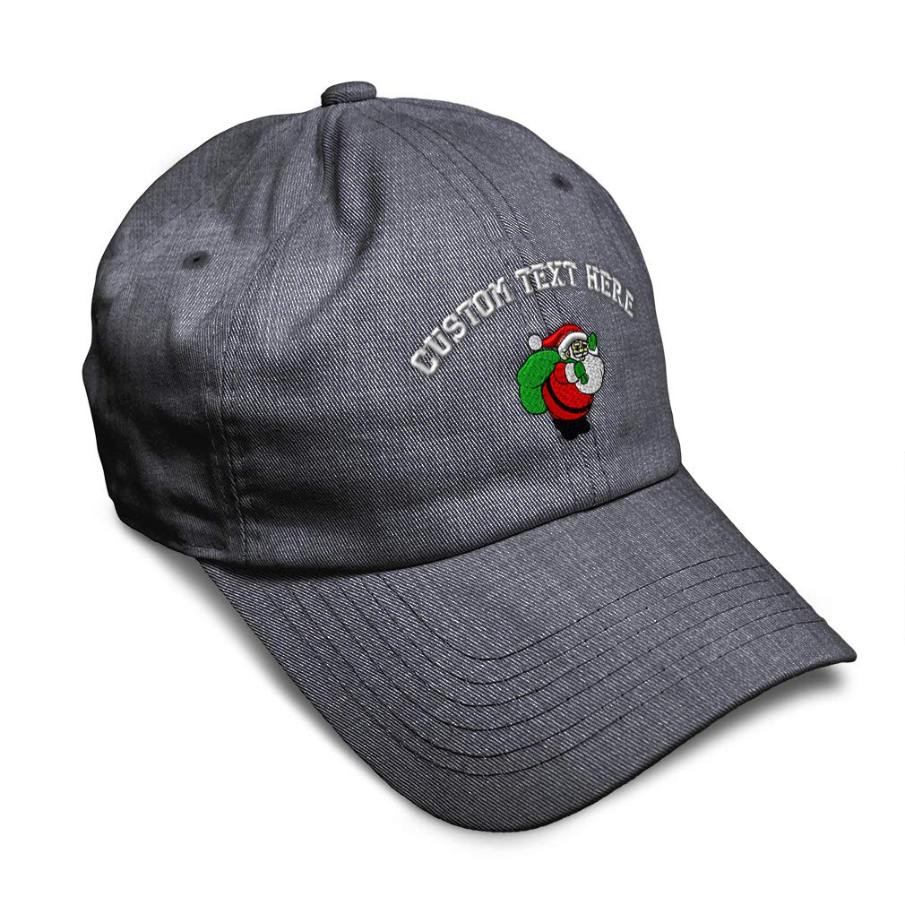 Custom Soft Baseball Cap Santa Claus Carrying Toys Embroidery Twill Cotton