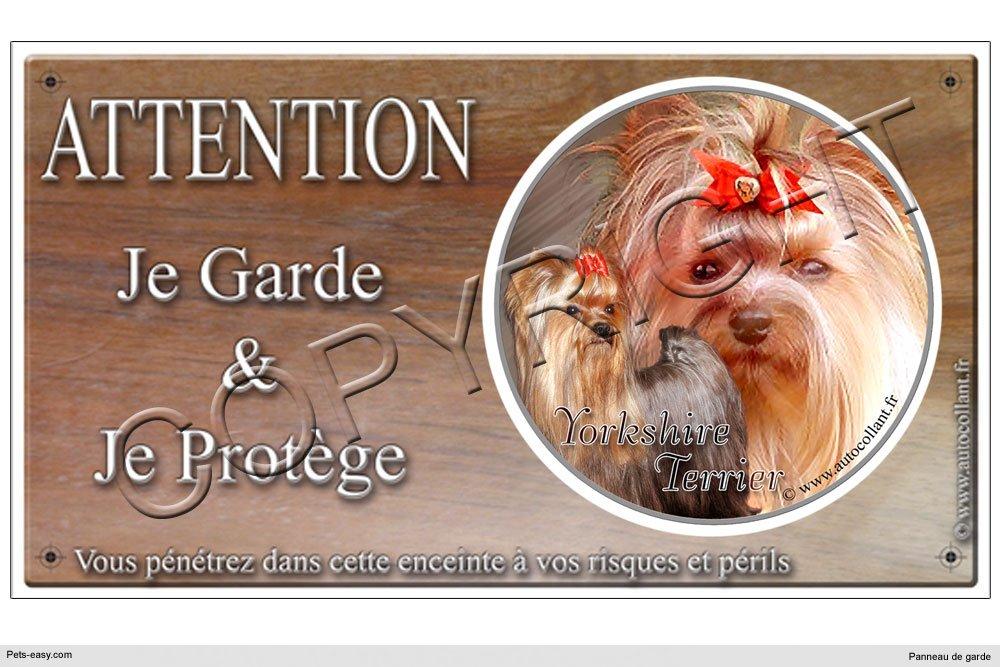 Panneau chien ou plaque Yorkshire-Terrier 20 cm COGESCO sarl