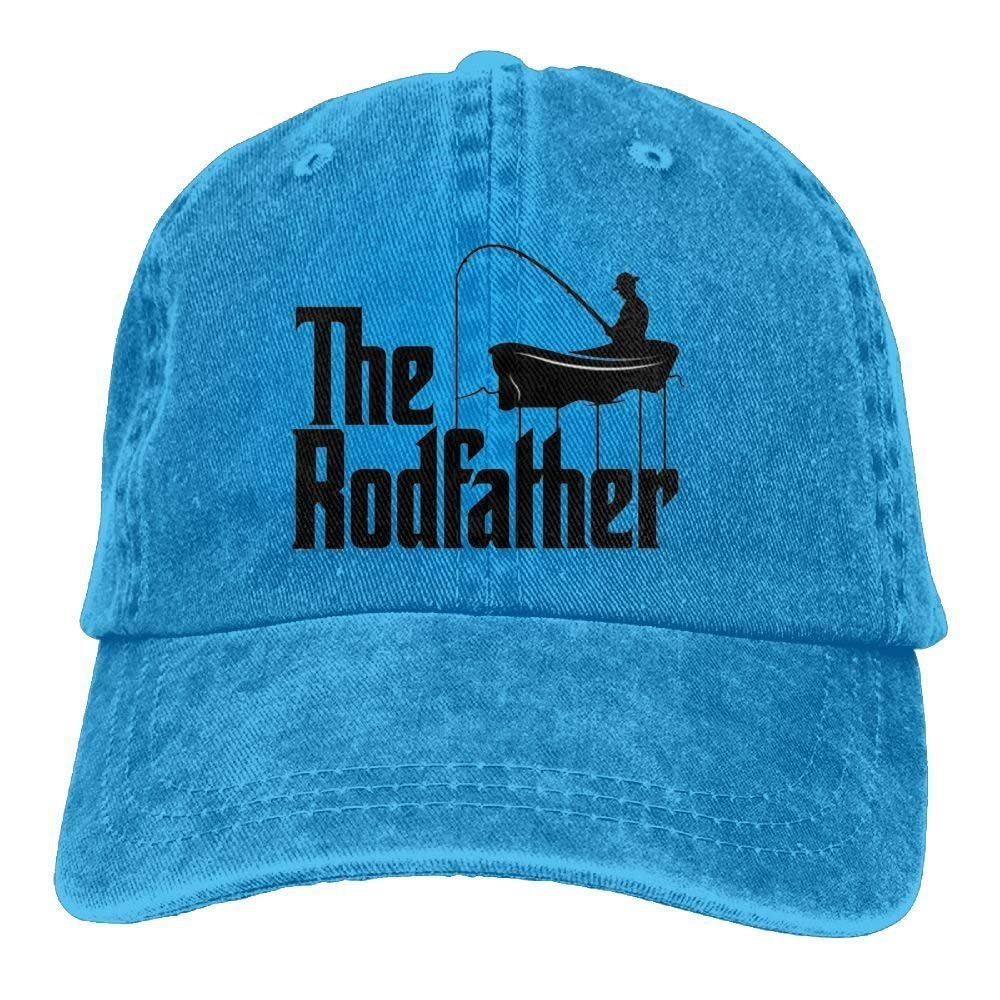 NDJHEH The Rodfather Unisex Cotton Washed Denim Visor Cap Hat Adjustable Natural
