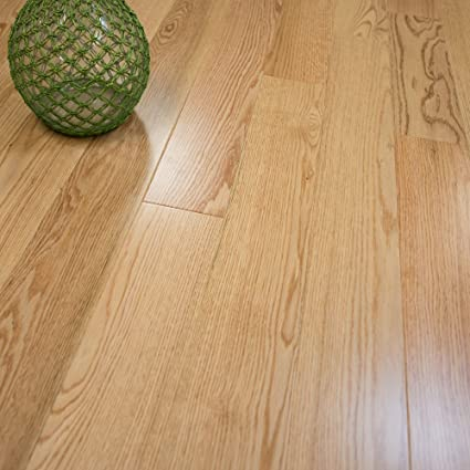 Red Oak W4mm Wear Layer Prefinished Engineered Wood Flooring 5 X 5