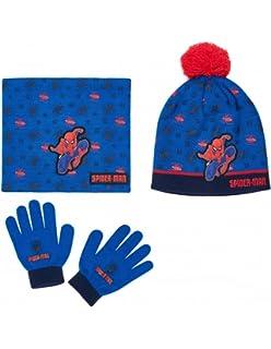 Ensemble Snood, bonnet et gants enfant garçon Spider-man Bleu de 3 à 8ans 93940d99f6d