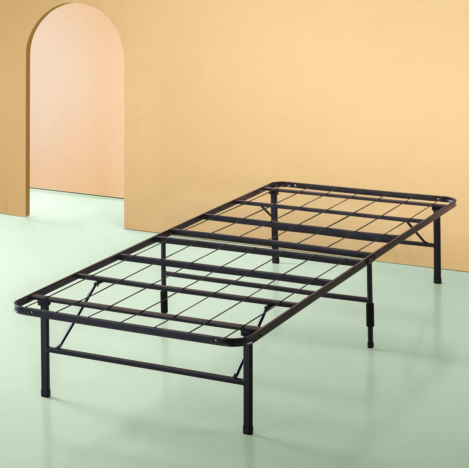 Zinus Shawn 14 Inch SmartBase Mattress Foundation / Platform Bed Frame / Box Spring Replacement / Quiet Noise-Free / Maximum Under-bed Storage, Twin by Zinus