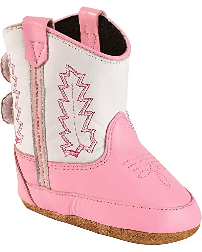 786f9e1980a62 Old West Kids Boots Baby Girl s Poppets (Infant Toddler) Pink White Boot