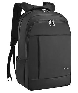 0a624ae469865 SLOTRA Laptop-Rucksack für 15.6-17 quot  Business Tasche Wasserdichter  Diebstahlsicherer Rucksack Schwarz (