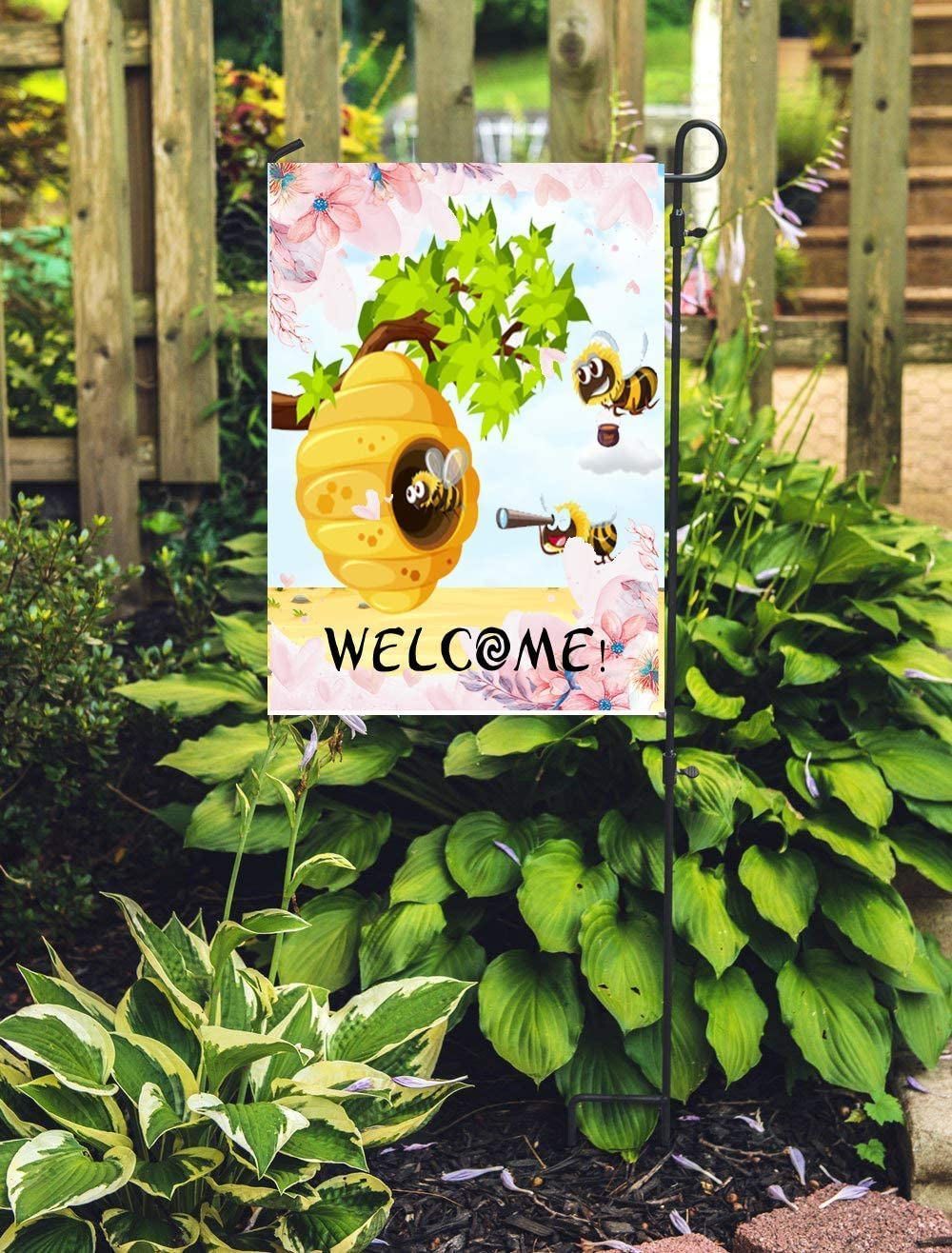Amazon Com Bernie Gresham Garden Flag Cover With Honey Bee