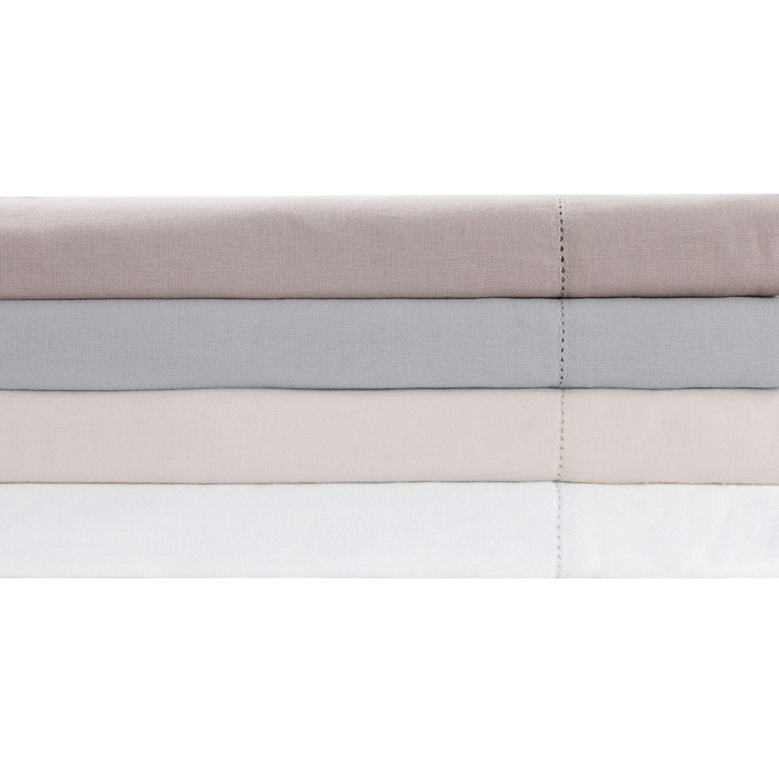 Charisma Luxe Cotton Linen s, Standard Pillowcases, Ivory