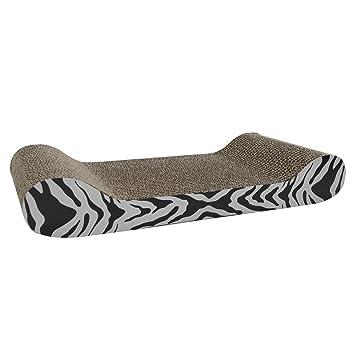 Rascador de cartón Heritage para gatos, con forma de sofá, incluye hierba gatera: Amazon.es: Productos para mascotas