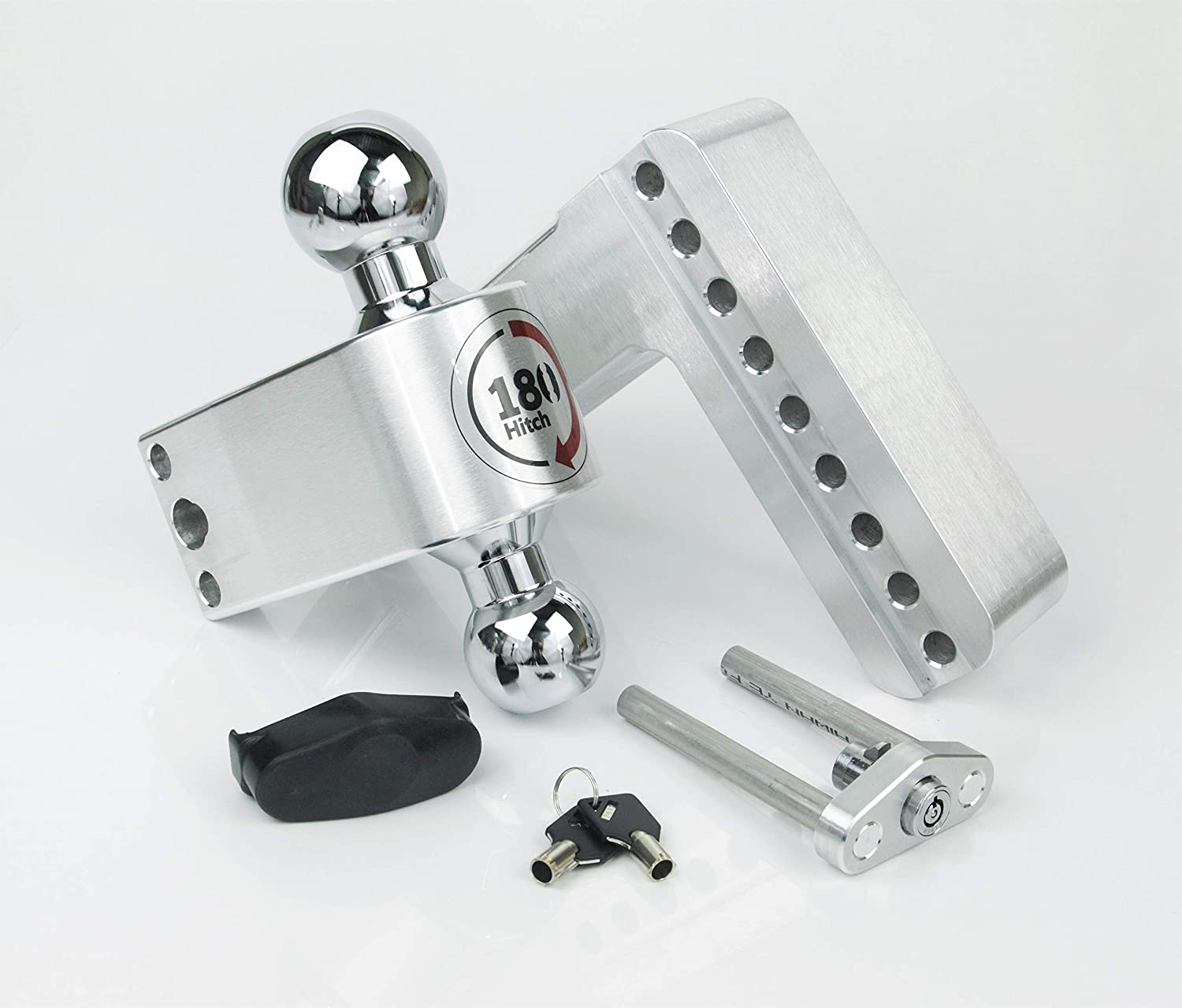 4 Drop 180 Hitch w// 2.5 Shank//Shaft and a Double-pin Key Lock 4 Drop 180 Hitch w// 2.5 Shank//Shaft LTB4-2.5-02 Weigh Safe LTB4-2.5 2 /& 2-5//16 Adjustable Aluminum Trailer Hitch /& Ball Mount Stainless Steel Combo Ball