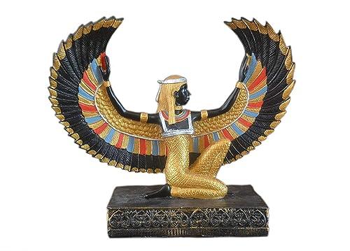 KemetArt Winged Ma at Stone Statue 10