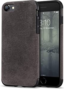 TENDLIN Compatible with iPhone SE 2020 Case/iPhone 8 Case/iPhone 7 Case Premium Suede-Like Material Comfortable Grip Slim Case (Brown)