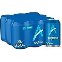 Aquarius Limón - Bebida funcional con sales minerales, baja en calorías - Pack 9 latas 330 ml