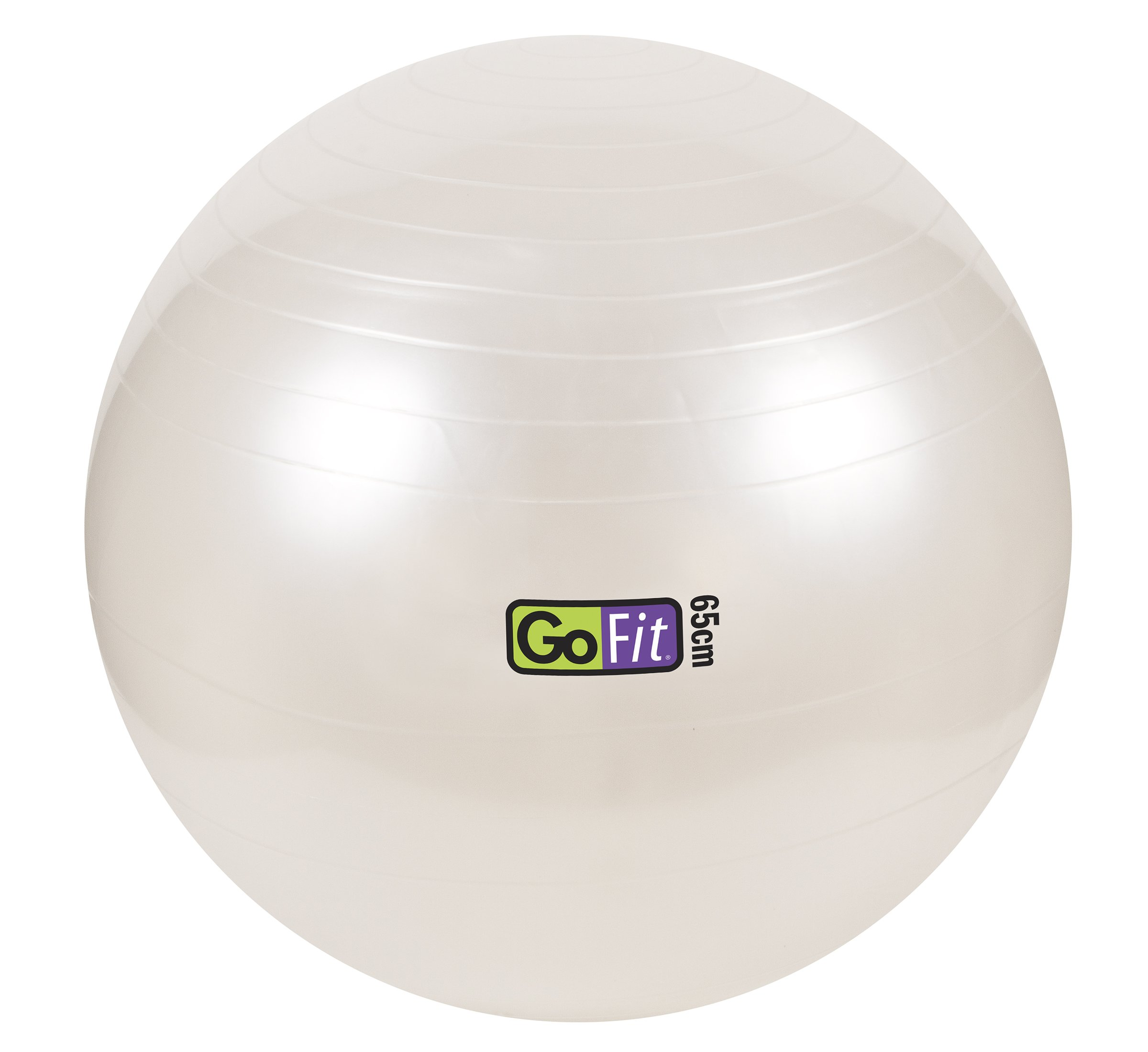 Exercise Stability Ball by GoFit 65cm, White with