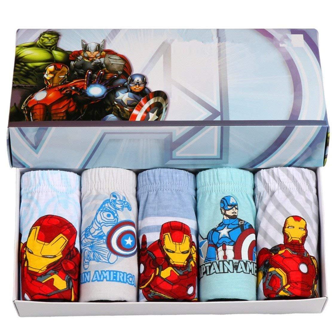 Ourfashion Superhero Little Boys' Briefs Avengers Teenage Underwear (Pack of 5)