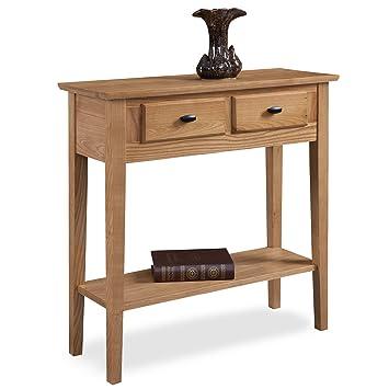 Amazon.com: Leick muebles salón consola/mesa de sofá, Madera ...