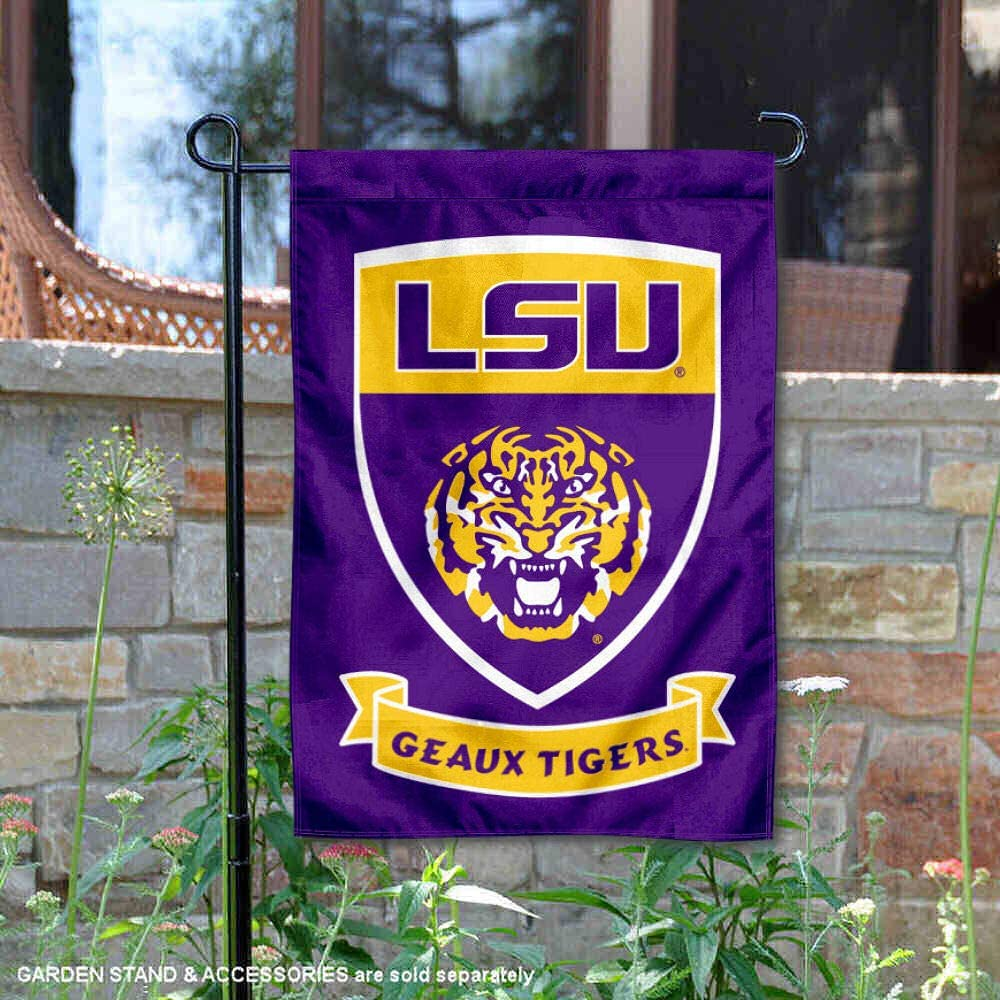 College Flags & Banners Co. Louisiana State LSU Tigers Shield Garden Flag