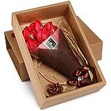 ソープフラワー ギフト花束 枯れない花 誕生日 母の日 記念日 先生の日 バレンタインデー ホワイトデーなど最適としてのプレゼント (7本、レッド)