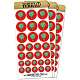 Globe Travel World Earth Removable Matte Sticker Sheets Set