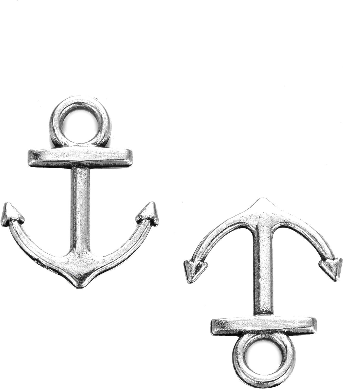 8  Assorted Nautical Sea Life Charms Bronze Tone Metal