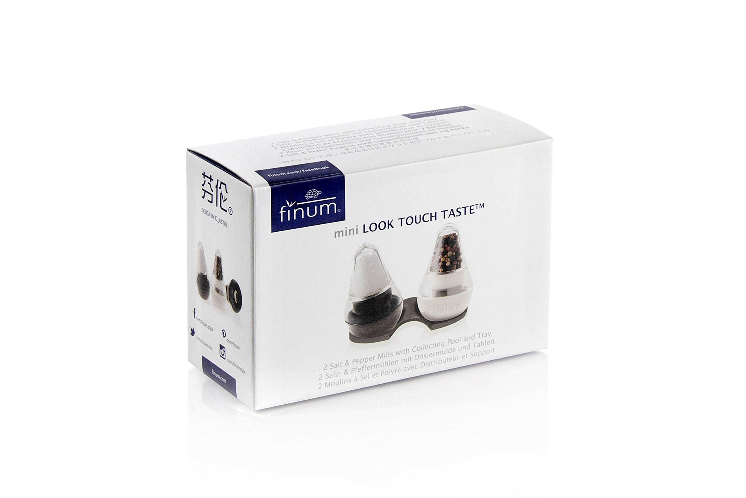 mini Look Touch Taste, Salt & Pepper Grinders (6 retail sets per case) by Finum (Image #2)