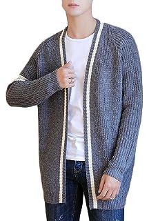 xtsrkbg Mens Round Neck Sweater Long Raglan Sleeve Knitted Pullover Blouse Tops