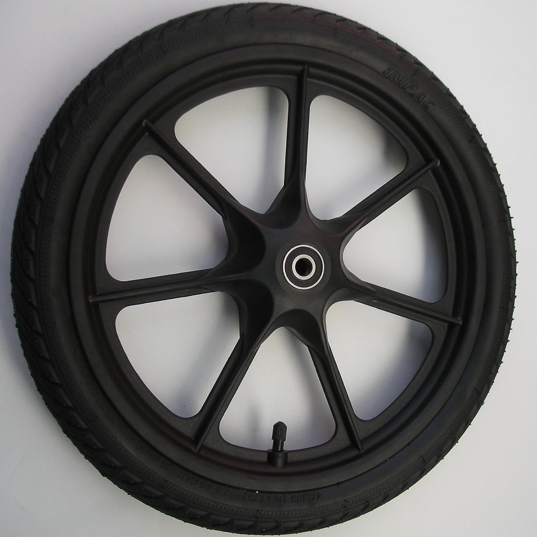 2x 16 Zoll 16 x 1,75 Rad f/ür 12mm Achsen 47-305 Kunststoff Speichenrad