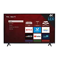 TCL 49S425-CA 4K Ultra HD Smart LED Television (2019), 49""