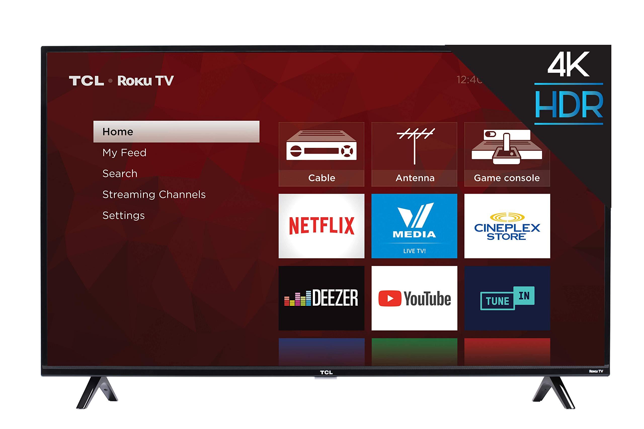 TCL 50S425 50 inch 4K Smart LED Roku TV (2019)