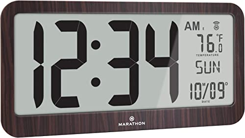 Marathon Slim Jumbo Panoramic Atomic Wall Clock