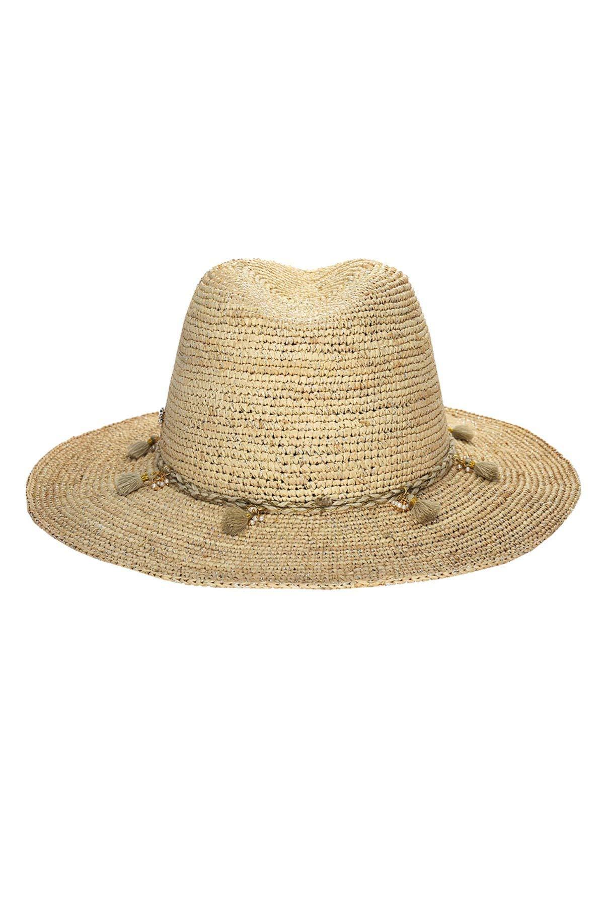Florabella Tayor Tassel Trim Hat Natural/Silver One