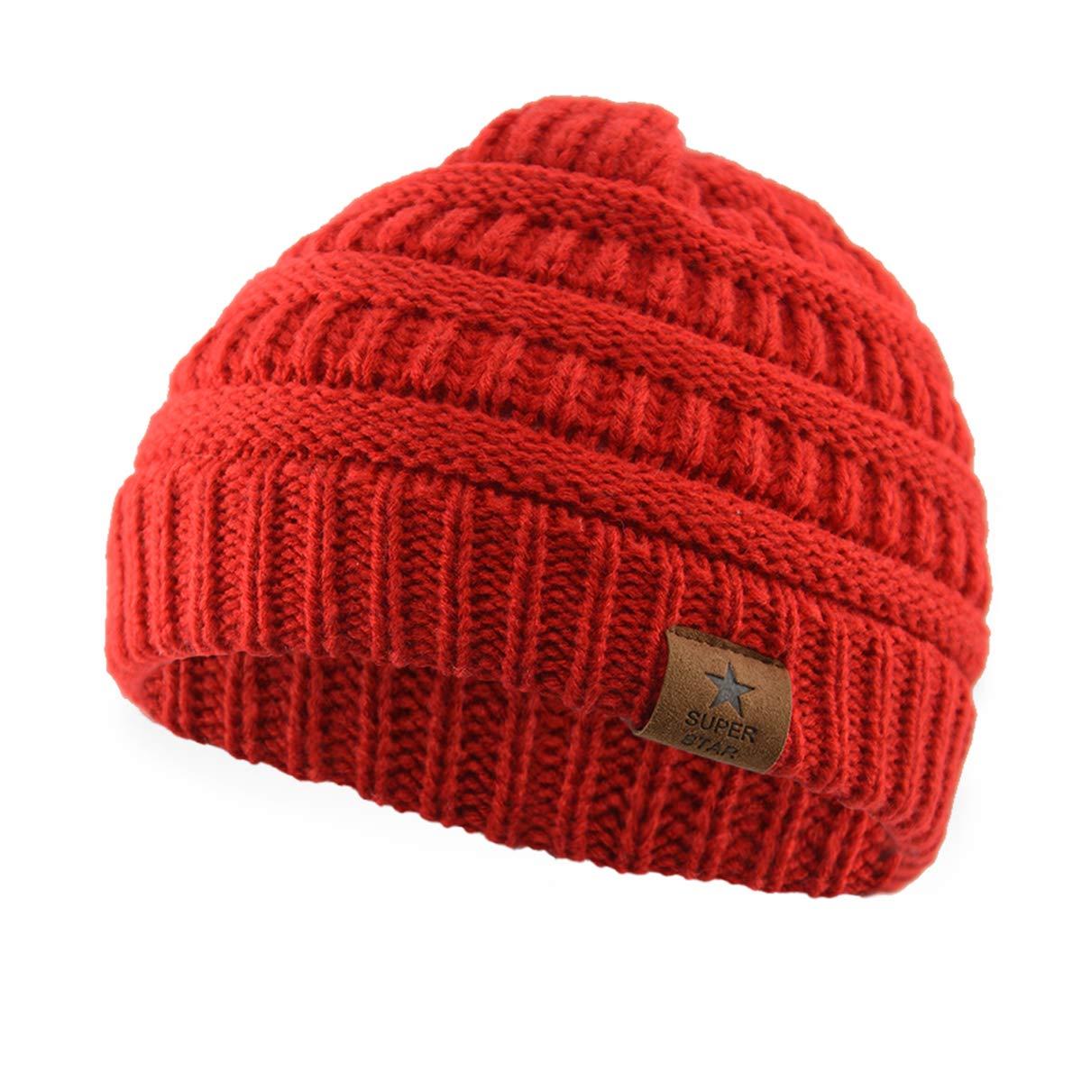 Zando Kids Baby Toddler Ribbed Knit Children Winter Hats Beanies Caps MNFUA1S2580AHA1P