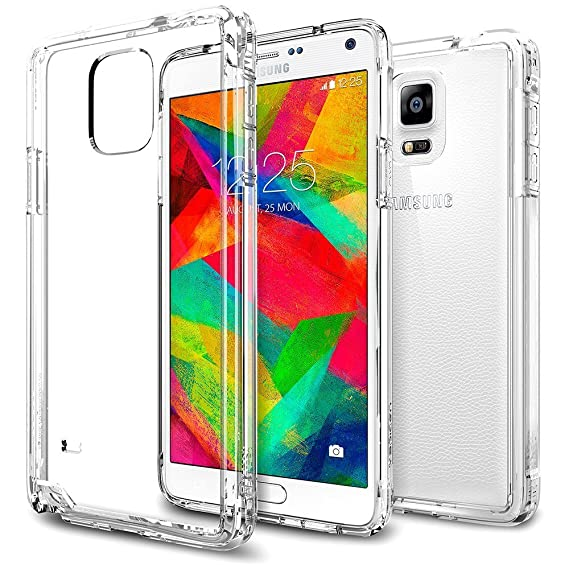 quality design c2359 fb50b Spigen Ultra Hybrid Galaxy Note 4 Case with Air Cushion Technology and  Hybrid Drop Protection for Samsung Galaxy Note 4 2014 - Crystal Clear