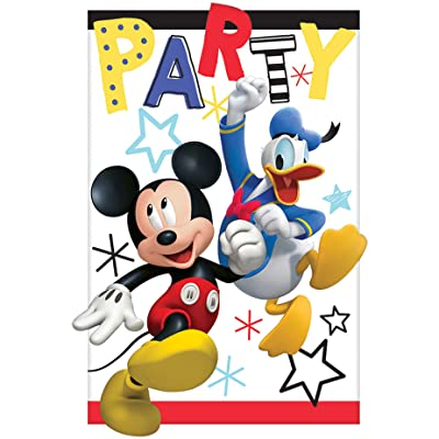 amscan Mickey Mouse Party Supplies On The Go Invitations (8): Toys & Games