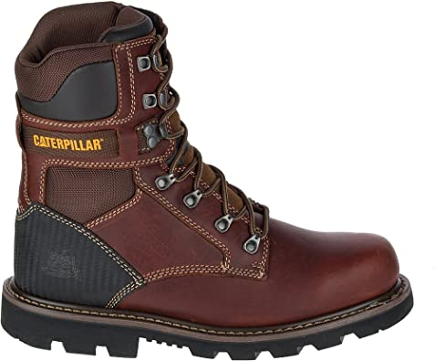 Cat ® SPIRO Mens Lace Up Leather S3 Safety Steel Toe Ankle Work Boots Brown