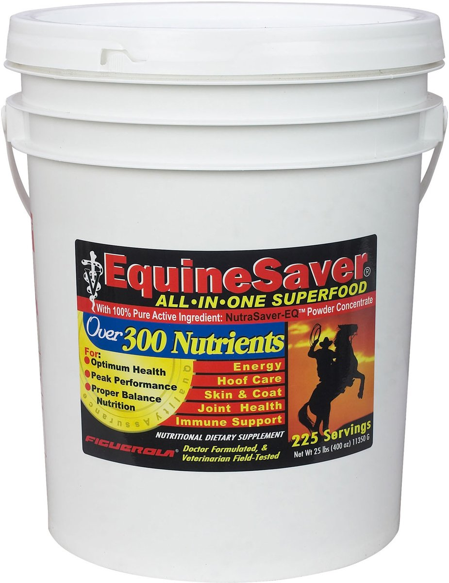 EquineSaver Nutritional Supplement for Horses by Figuerola. Contains NutraSaver-EQ: 300 Key Nutrients to Supply Your Horse's Nutritional and Therapeutic Needs for Optimal Health and Performance. (25)
