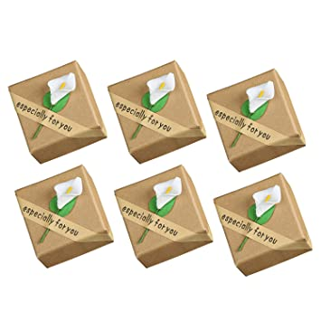 Caja Regalo,6 PCS Vintage Lily Joyero para Collar Anillo Pulsera Aniversario Regalo de cumpleaños Regalo presente Caja de almacenamiento: Amazon.es: Hogar