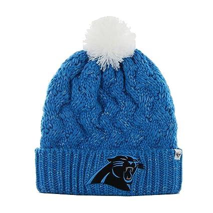 Amazon.com    47 Brand Carolina Panthers Fiona Cuff Knit Pom Beanie ... 2f27c1e2215